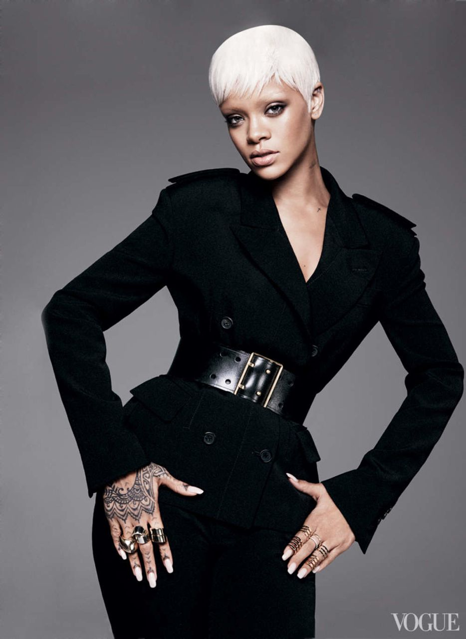 RIHANNA FOR THIRD VOGUE US MAGAZINE COVER IN MARCH 2014