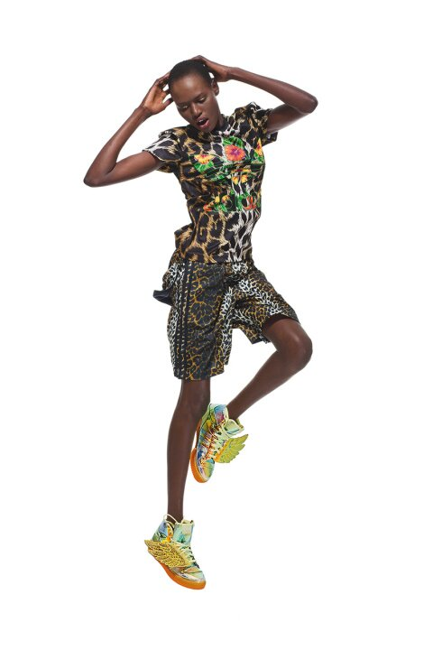 21de216f931 Ajak Deng   Adonis Bosso in Adidas Originals by Jeremy Scott ...